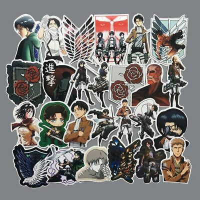42PCS Attack on Titan Sticker Anime Stickers Laptop Suitcas Bicycle Luggage Car