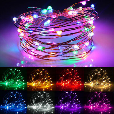 2/5/10M USB LED Copper Wire String Fairy Light Strip Lamp Xmas Party