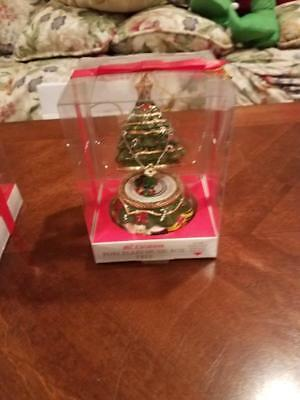 Mr Christmas Porcelain Tree Music Box With Animated Train Brand New Unopened!!