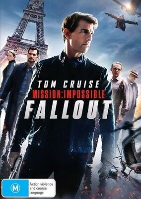Mission Impossible - Fallout (DVD, 2018) Ex rental