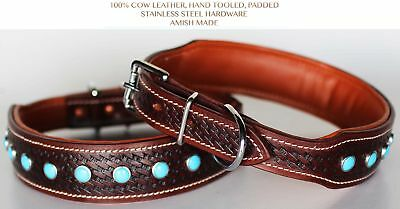 Small 13''- 17'' Rhinestone Dog Puppy Collar Crystal Cow Leather Western 6042