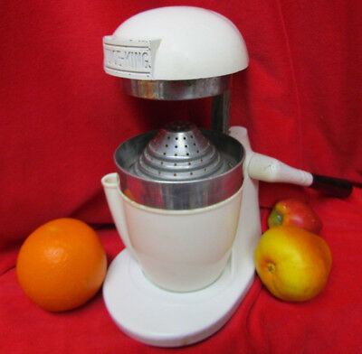 VTG RETRO 1930/40s JUICE KING ART DECO JUICER JK-15 LEVER MANUAL CITRUS SQUEEZER