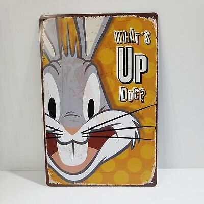 Bugs Bunny Vintage Style Metal Tin Wall Decor Sign NEW Gift for Cartoon Lovers