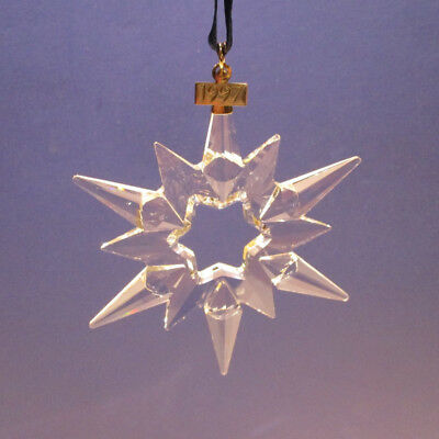 Swarovski Crystal 1997 Christmas Ornament Snowflake Star w/chip, Orig Box/Sleeve