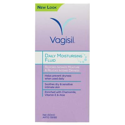 Vagisil Daily Moisturising Fluid 60Ml Restores Intimate Moisture Dryness Relief