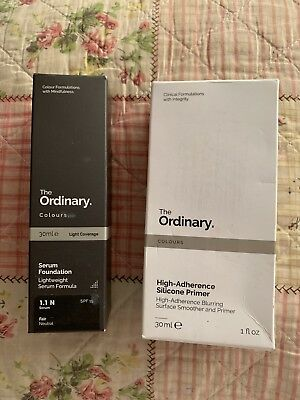 The Ordinary Serum Foundation 1.1N 30Ml & High-Adherence Silicone Primer 30Ml