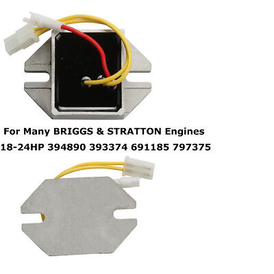 Silver Voltage Regulator fits Engines 18-24HP 394890 393374 691185 797375