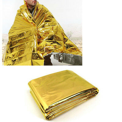10Pcs Foil Space Blanket First Aid Emergency Survival Blanket Thermal Rescue