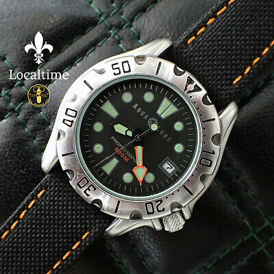 1980's AQUALUNG 500m Professional Diver Date Steel Watch - Japan Seiko Cal. VX42