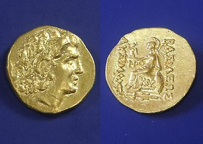 PEDIGREE CNG! Ancient Athena Alexander the Great Thrace Mithradates GOLD AU Coin