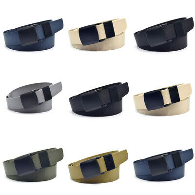 Adjustable Boys Kids Military Belts Waist Buckle Belt Band Strap Plain Waistband