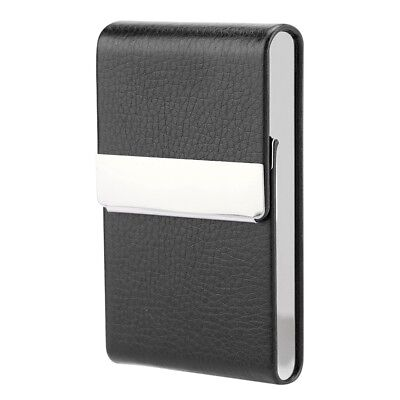 Cigarette Case Stainless Steel Box Holder PU Leather Cases Tobacco Magnetic Lock