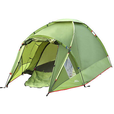MoKo Waterproof Camping Tent, Double Layer 3 Person 4 Season Backpacking Tent