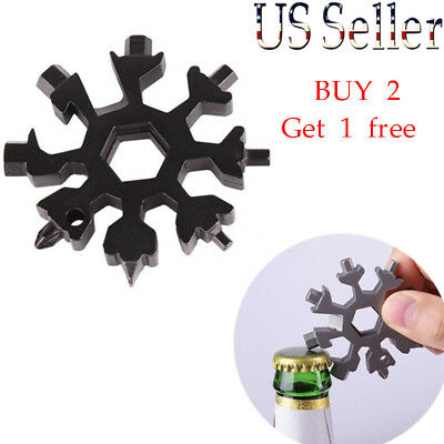 Snowflake 18-in-1Functions Compact and Portable Outdoor Screwdriver Multi-tool