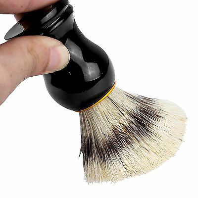 Men's Black Badger Hair Shaving Brush in Ebony Handle Beard Moustache UK Stock