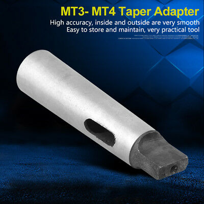133mm Length MT3 to MT4 Taper Adapter Reducing Drill Sleeve Lathes Machine Part