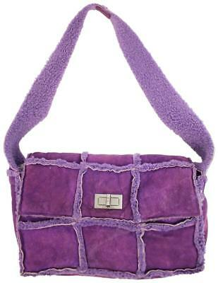 c366f42a31e6 CHANEL CLASSIC FLAP Shearling Purple Shoulder Bag Ccty63 - $319.84 ...