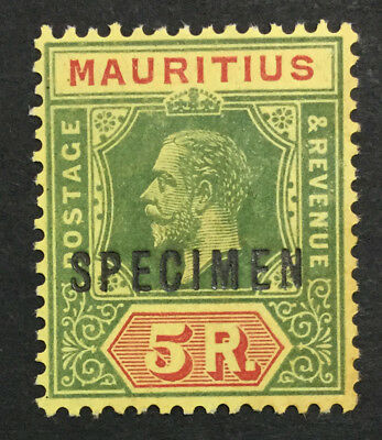 MOMEN: MAURITIUS SG #203as SPECIMEN MINT OG H £200 LOT #493