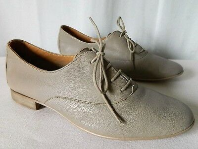 617fe16d56f655 KARSTON CHAUSSURES FEMME derbies lacets CUIR taupe 37,5 TBE - EUR 22 ...