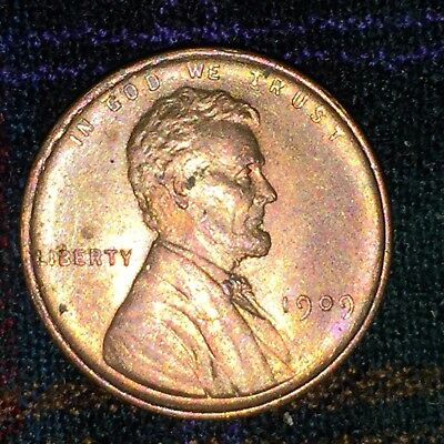 US 1 Cent 1909 - Unc Red
