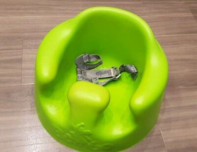 Bumbo seat (Green) with safety straps