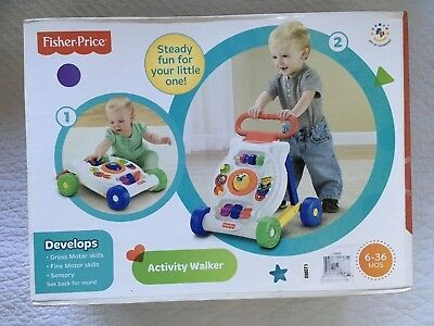 Baby Activity Walker Infant Toy Learning Center Toddler Push Walk Fisher Price
