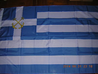 100% NEW reproduced Flag of Hellenic Greece Coast Guard Greek Ensign, 3ftX5ft,