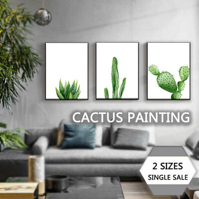 7948 Painting Wall Pictures Print Poster Canvas Palm Leaf Watercolor