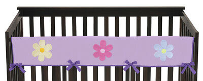 Jojo Daisies Flower Front Rail Guard Crib Cover Baby Teething Protector Wrap