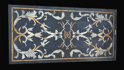 Marble Dining Center Table Top Pietra Dura Floral Inlay Handmade Work
