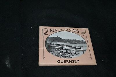 Vintage 12 Real Photo Snaps Guernsey by The R.A. Co See Description