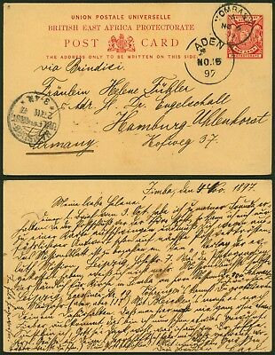British East Africa 1897 - Postal stationery to Germany 20737