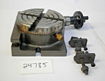 """3"""" Rotary Table With Clamping Kit ***new*** Pic#24785"""