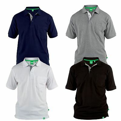 D555 Mens Big King Size Grant Polo Shirt PK Plus Size available 3XL-8XL £14.99