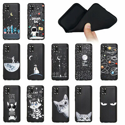 For Samsung Galaxy A6 A7 A8 A9 2018 Soft Silicone Painted TPU Back Case Cover
