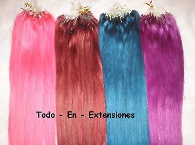 50 Extensiones Micro Ring, Cabello 100 % Natural, Calidad Remy AAA, FANTASIA
