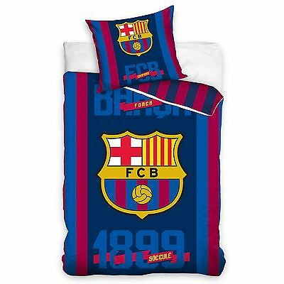 Fc Barcelona 1899 Single Duvet Cover & Pillowcase 100% Cotton Official Bedding