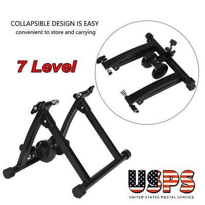 New Magnetic Indoor Bicycle Bike Trainer Exercise Stand 7 levels of Resistance S