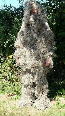 Adults Autumn Camo/Camouflage 3D Hunting Ghillie Burlap Suit + Rifle Wrap