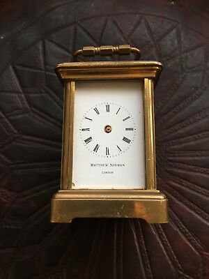 Matthew Norman Miniature Brass Carriage Clock For Spares Or Restoration