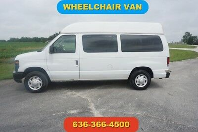 2008 Ford E-Series Van Commercial 2008 4.6L V8 16V Automatic Braun wheelchair lift raised roof handicap 1 owner