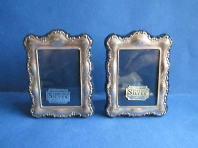 Miniature Pair Sterling Silver Picture/photo Frames