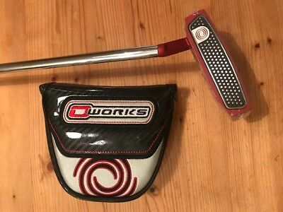 """~~ODYSSEY Putter O-WORKS RED Modell 7S, 35"""" incl. Haube neu!"""