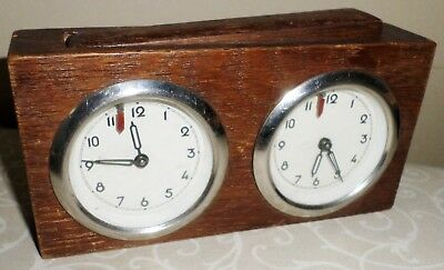 Unusual Old Triberg Germany Chess Club Working Wooden Mechanical Chess Timer!
