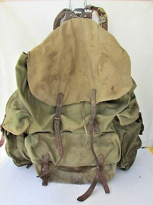 WWII WW2 Vintage Military German canvas Backpack Rucksack M07