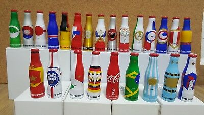 Mexico - Coca Cola 24 Mini Aluminium Bottles - Full Set - Russia 2018 World Cup