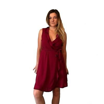 a6aec19d Clothing, Shoes & Accessories New Modcloth Ritzy Wishes Sheath Dress Sz XS  in Burgundy with Bow ...