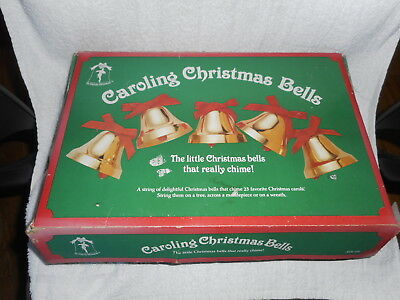 Caroling Christmas Bells By Ye Merrie Minstrel W/remote - Working And In The Box