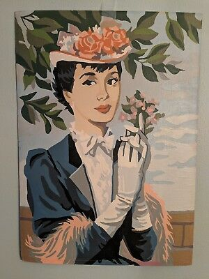 Vintage paint by number paintings