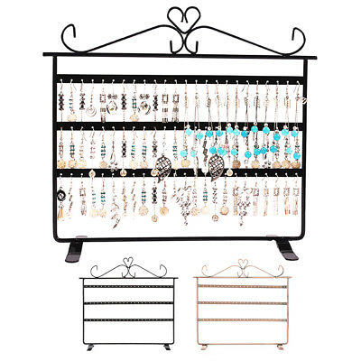 Jewelry Organizer Hanging Holder Display Wall Mount Earring Necklace Rack Stand